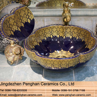 Chinese modern top quality ceramic art basin wash basin lavabo sink