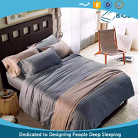 Low MOQ! Eco-friendly Bed Set Luxury Egyptian Cotton Bed Sheet 100% Cotton Sheet in China