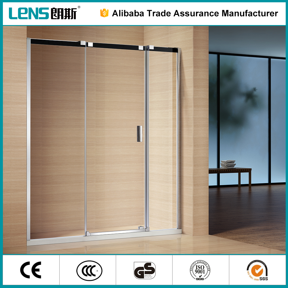Portable safety 8 tempered glass shower door