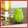 Amazon hot sale food grade silicone owl shaped tea infuser/filter/strainer/the tea making device