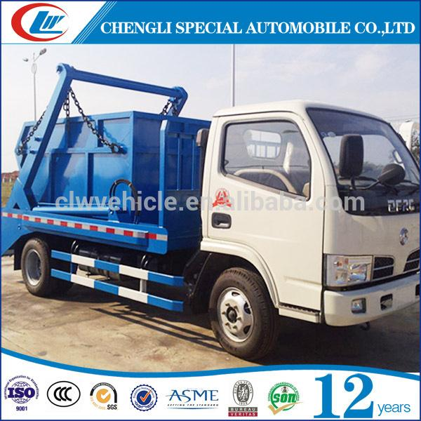 Mini Skip Loader Truck 6 Wheels Swinging Arm Garbage Truck 4cbm Swing Arm Garbage Truck