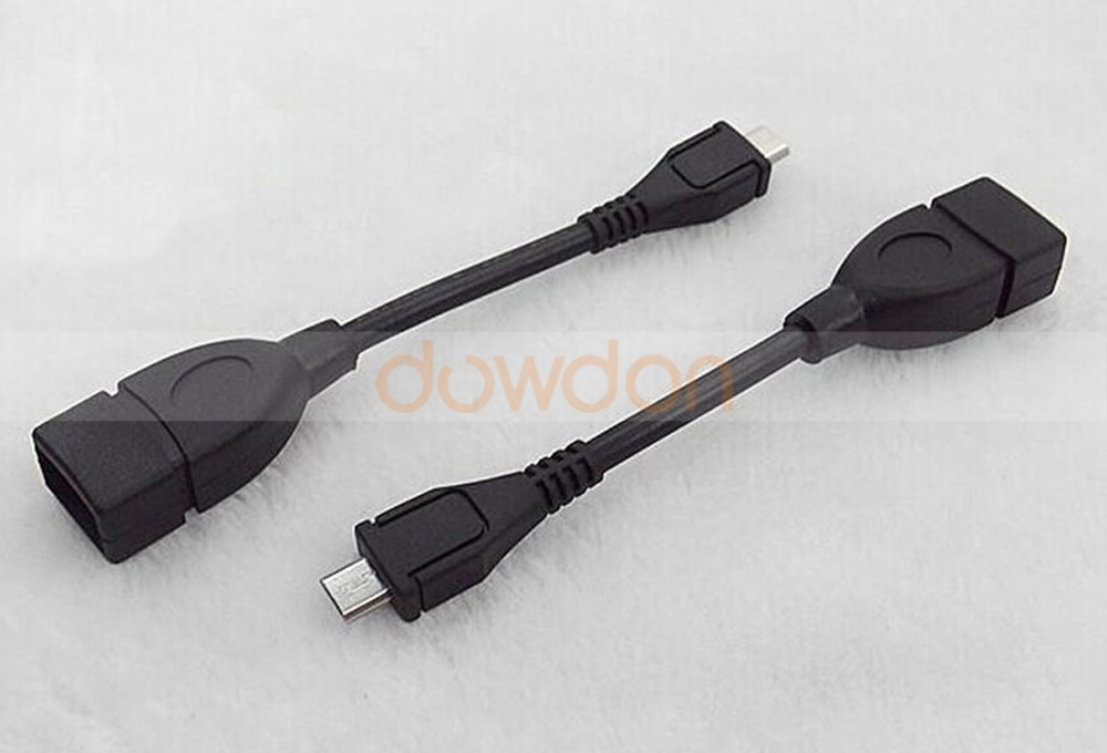 Micro USB Male to USB A Female On-The-GO Host Cable Adapter