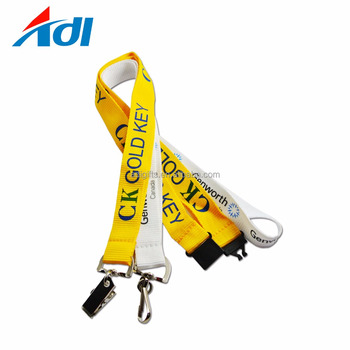 Promotional Custom World Cup Name Tag Heat Transfer Lanyard For Sale