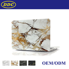 custom pattern water decal hard plastic laptop case cover for Macbook pro with retina display- Marble pattern white