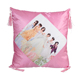 Custom sublimation printed pillow cover in blue color