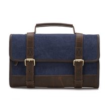 Waxed Canvas Travel Dopp Kit, Mens Canvas Hanging Travel Toiletry Bag