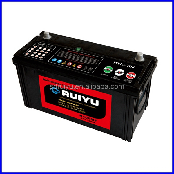 12V Lead Acid Battery for Cars/Trucks / Autos/ passenger bus /ship starting Made in China