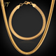 Necklace Bracelet Jewelry Set Fashion Men Chain With Stamp 316L Stainless Steel Gold Plated Men Jewelry Set