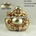 Polyresin happy buddha to buddha coin box for sale