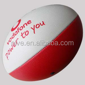 Wholesale promotional best quality inflatable customized pvc leather rugby ball
