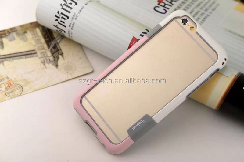 New arrival double color soft silicon bumper TPU bumper for iPhone 6