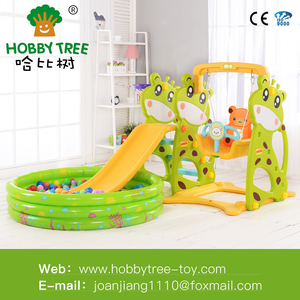 children CE standard indoor game playground big slides and swing set