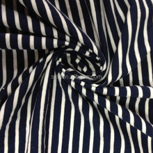100% cotton black and white stripe fabric