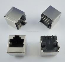 RJ45 Metal 8 Pin Female PCB Right Angle Board Jack Connector 8P8C