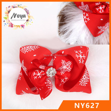 Christmas <strong>Headband</strong>- Big Boutique Snowflake Feather Rhinestone Bow Christmas Hair bow <strong>Headband</strong>