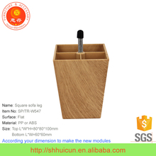 Wooden surface ABS furniture chair leg extensions
