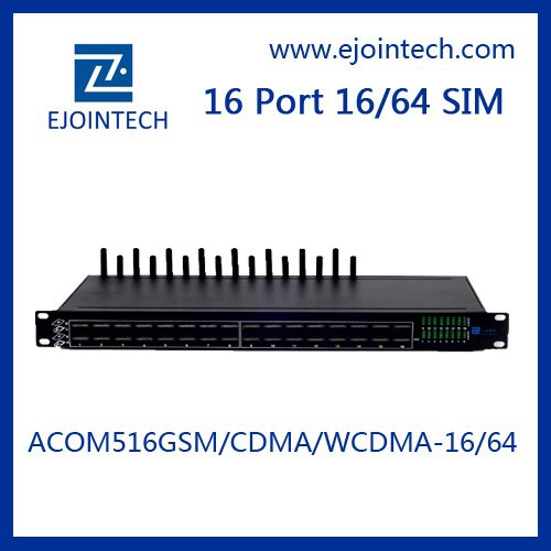Inter-calling and SMS sending Intelligent Routing IVR asterisk voip 16 channels wcdma gateway goip 16 sim cards