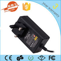 Mount-wall type DC12v 3a adaptor UK/EU/AU/US plug with 1M DC cable