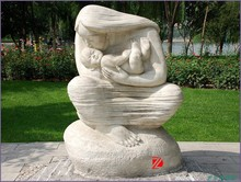 Abstract mother and child sculpture