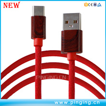 wholesale mobile phone accessory nylon braid colorful usb cable , type-c cable usb