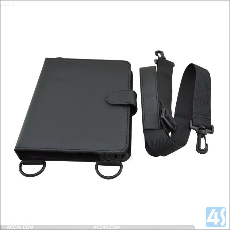 "Wholesale PU leather 7"" universal tablet case with shoulder strap"