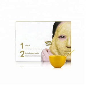 Skin Natural Facial Sheet Silicone Crystal Private Label Face Collagen 24k Gold Mask