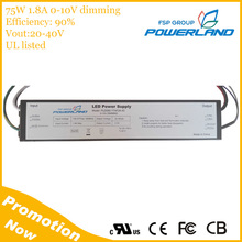 75W 20-40V Output Outdoor 0-10V Dimmable Constant Current Led Driver