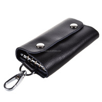 Car Keychain Key Holder Bag Wallet Cover with Card Holder with Hook