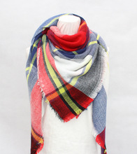 2017 Wholesaler Fashions Plaid Blanket scarf with Women