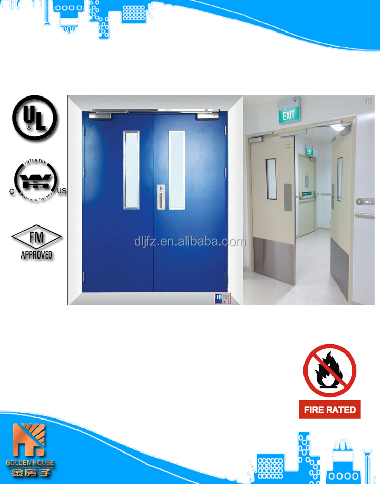 Commercial used double swing steel fire rated door