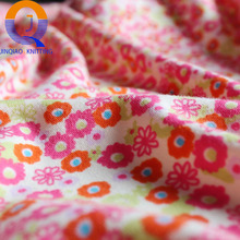Changshu textile knit combed cloth 100%cotton custom printed interlock fabric for Clothes Garment or T shirt