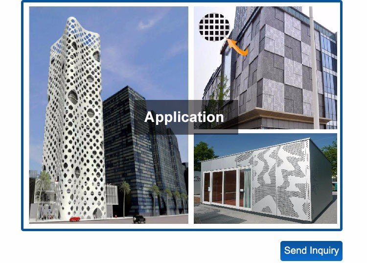 China Manufacturer Prices Powder Coated Perforated Aluminum Sheet for Curtain Wall