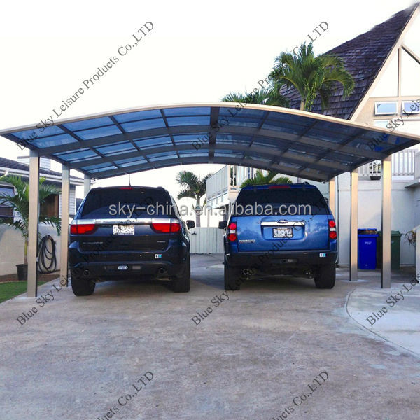 Aluminum frame polycarbonate steel frame carport parts
