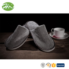 High Quality 5 Star Hotel Expensive Grey Silver Luxury Pleuche Slipper