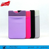 silicone mobile phone case 3m sticker credit card holder