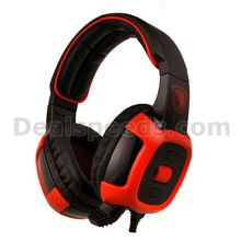 SADES SA-906i Stereo 7.1 Surround PC Gaming Headset w/ Microphone + Volume Control Removable Microphone