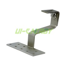 Pitched tile roof stainless steel adjustable hooks for roof solar mounting system
