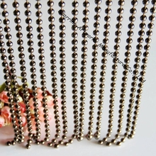 Fashion Design 6MM Gunmetal Colored Metal Bead Chain Curtain
