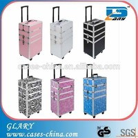 4 in 1 Makeup Vanity Hairdressing Cosmetics Trolley Case for nail beauty