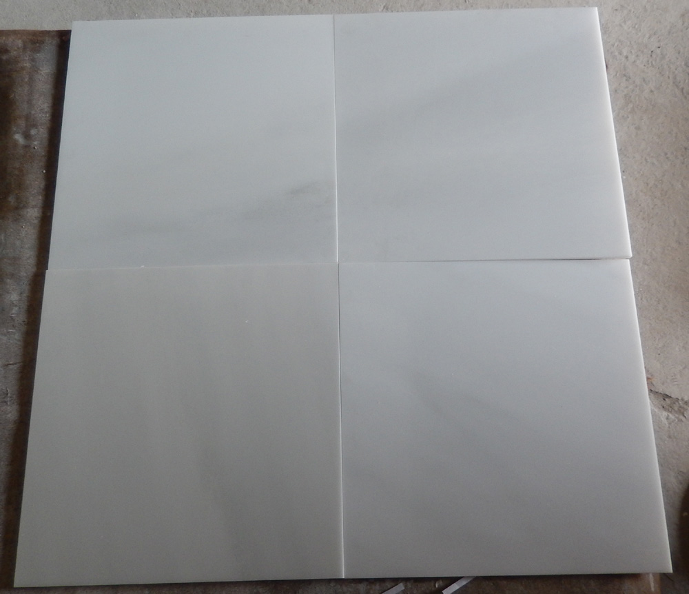 Hot Sell Customized size flooring tile sunny white marble
