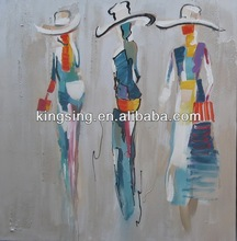 hot sell indian women on canvas