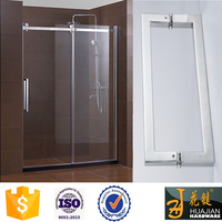 stainless steel contemporary back to back glass shower door pull handles