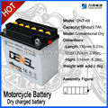 12V 7AH Dry Charged Motorcycle/Scooter Battery