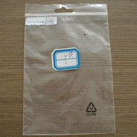 LDPE wholesale logo printed packaging plastic bags ziplock bags with handle hole