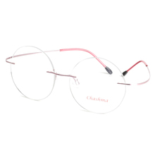 New Brand Titanium Rimless Eyeglasses Frames Ultra Light Myopia Round Vintage Glasses Optical Frame for Male and Women