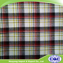 wholesale 16s*16s check plad fabric with yarn dyed woven