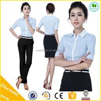 2015 new style ladies office uniform design women office uniform style model blouse for uniform