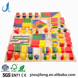 Educational toys for preschool children coloful montessori wood toys OEM accept