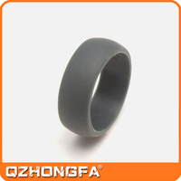 men custom black silicone finger ring