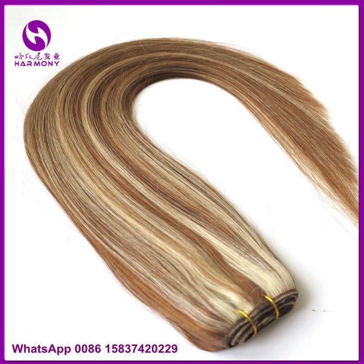 Wholesale two tone ombre colored virgin human hair extensions weave